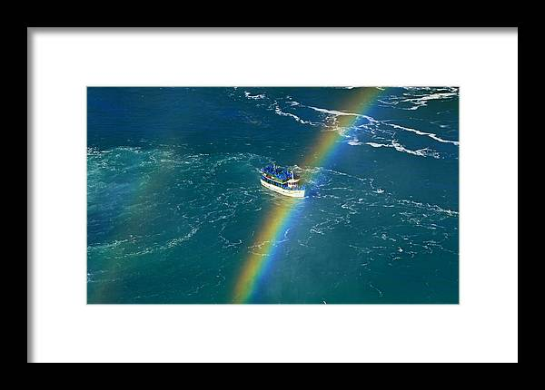 Maid Of The Mist Iv Framed Print featuring the photograph Maid Of The Mist Iv by Rachel Cohen