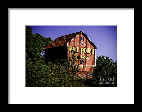 Advertisement Framed Print featuring the photograph Mail Pouch Barn-0702 by Robert Gardner