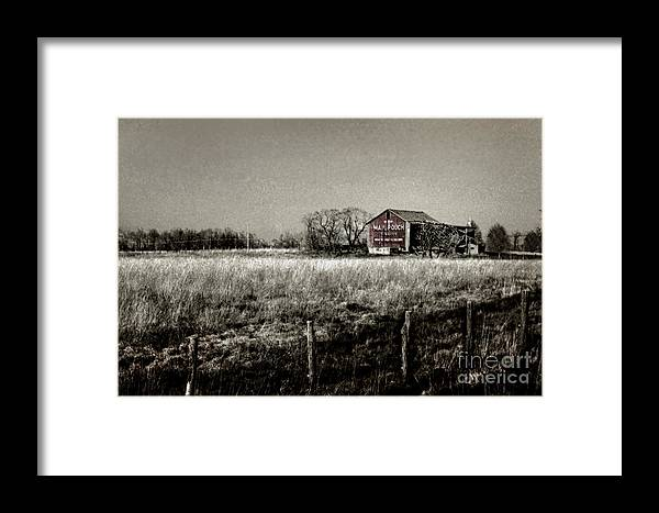 Advertisement Framed Print featuring the photograph Mail Pouch Barn 89zz by Robert Gardner