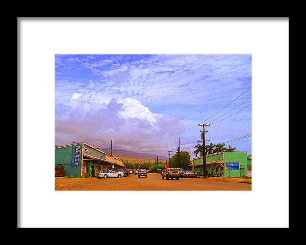 Kaunakakai Framed Print featuring the photograph Main Street Kaunakakai by James Temple