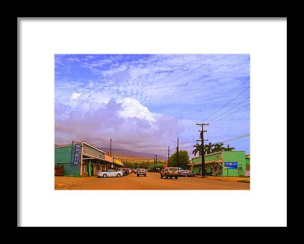 Kaunakakai Framed Print featuring the photograph Main Street Kaunakakai by James Temple