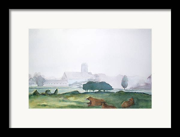 Maine Landscape Framed Print featuring the painting Maine Cathedral by Grace Keown