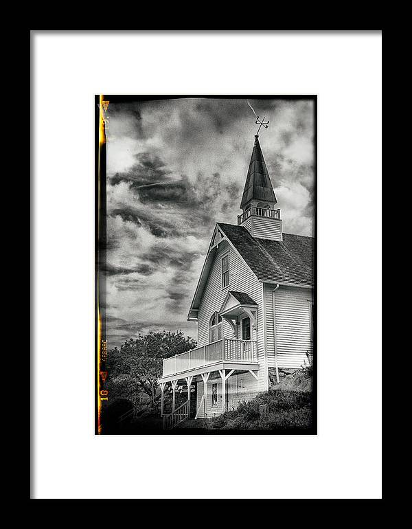Maine Workshop Framed Print featuring the photograph Maine Coast Church by Carol Sweasy