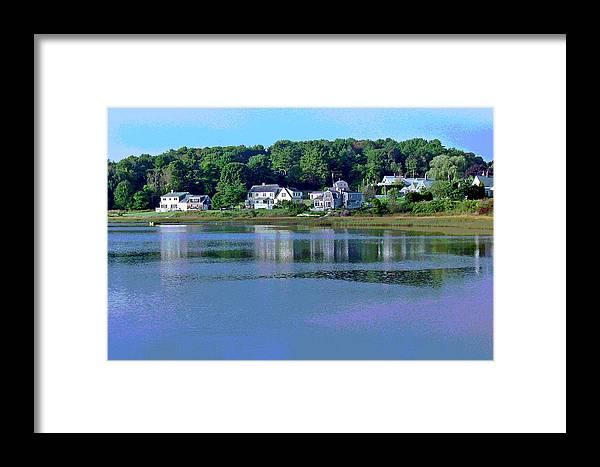 Maine Framed Print featuring the photograph Maine Lakefront by Suzanne Gaff