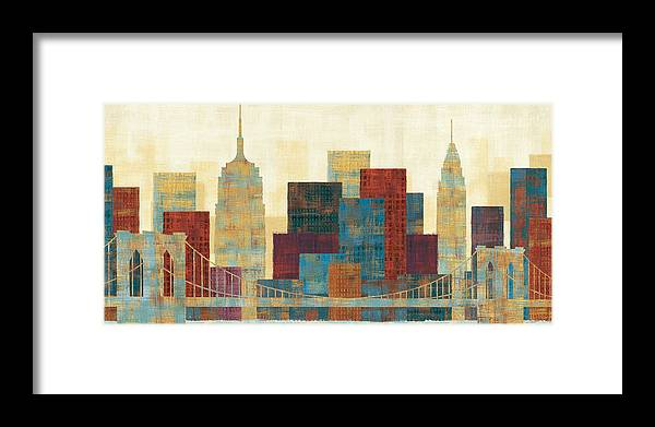 Blue Framed Print featuring the painting Majestic City by Michael Mullan
