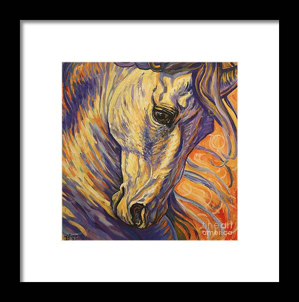 Horse Framed Print featuring the painting Majestic Lipizzan by Silvana Gabudean Dobre