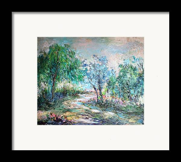 Trees Framed Print featuring the painting Majestic by Mary Spyridon Thompson