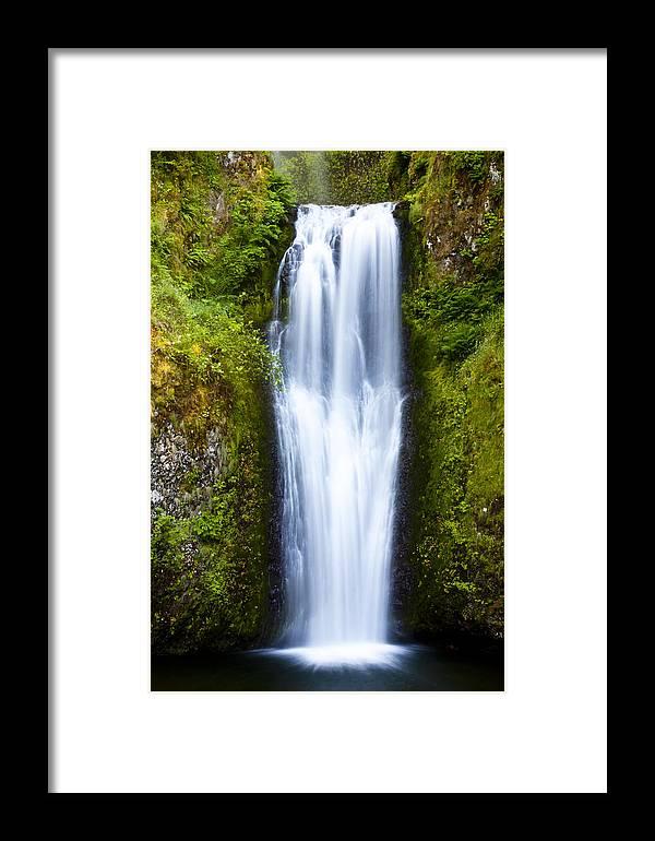 Falls Framed Print featuring the photograph Majestic Multnomah by Chandru Murugan