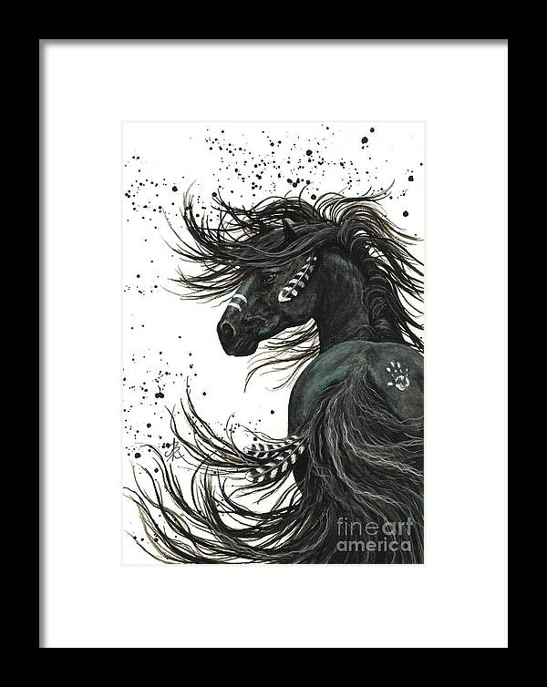 Mm65 Framed Print featuring the painting Majestic Spirit Horse by AmyLyn Bihrle