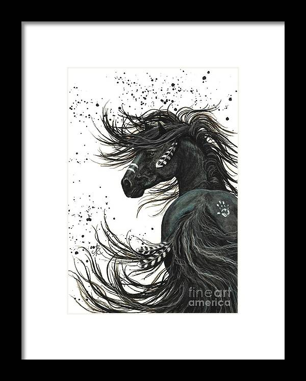 Mm65 Framed Print featuring the painting Majestic Spirit Horse I by AmyLyn Bihrle
