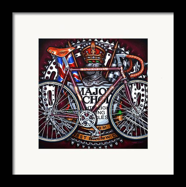 Bicycle Framed Print featuring the painting Major Nichols by Mark Jones