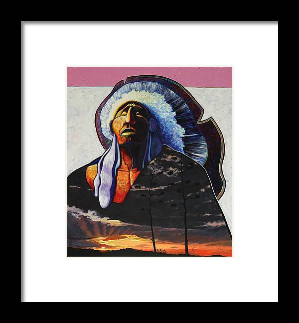 Native American Framed Print featuring the painting Make Me Worthy by Joe Triano