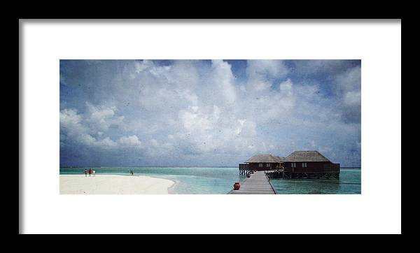 Maldives Framed Print featuring the mixed media Maldives by Heike Hultsch
