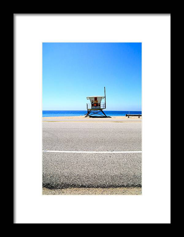 Malibu Framed Print featuring the photograph Maliblue by Marc Levine