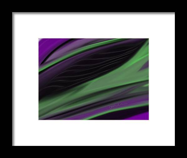 Malifescent Framed Print featuring the digital art Malifescent Abstract by Christina Kulzer