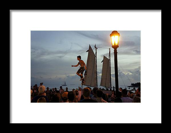 Mallory Square Framed Print featuring the photograph Mallory Square by Laurie Perry