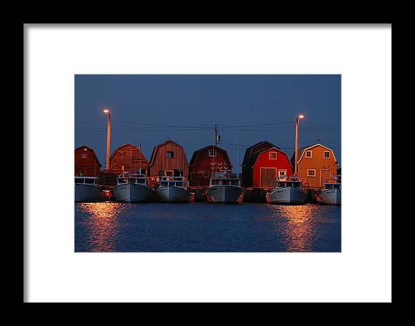 Harbor Framed Print featuring the photograph Malpeque Harbor After Sunset by Frank Falzett