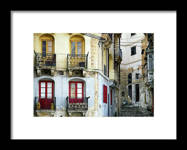 Shutter Framed Print featuring the photograph Malta - Valletta by Foottoo