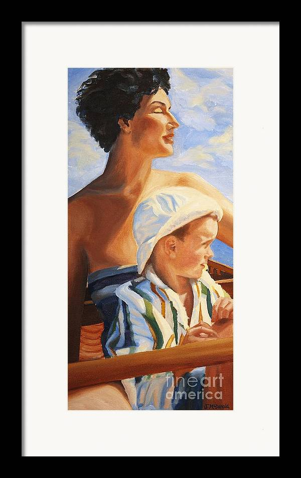 Portrait Framed Print featuring the painting Mama Goddess by Janet McDonald