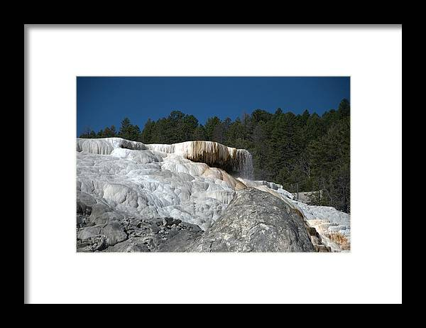 Blue Framed Print featuring the photograph Mammoth Hot Springs 1 by Frank Madia