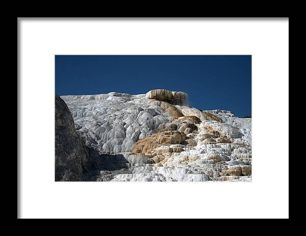 Blue Framed Print featuring the photograph Mammoth Hot Springs 2 by Frank Madia