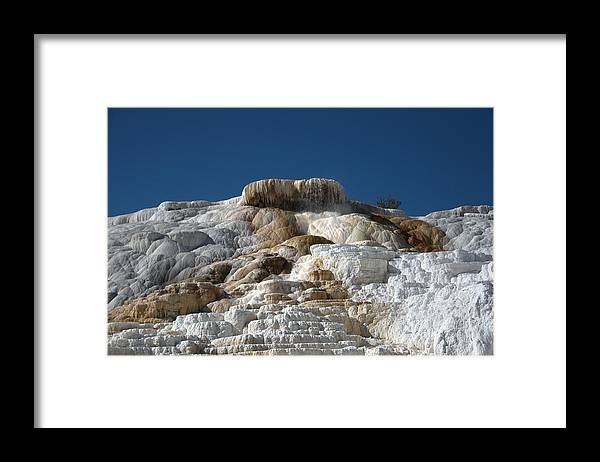 Blue Framed Print featuring the photograph Mammoth Hotsprings 4 by Frank Madia