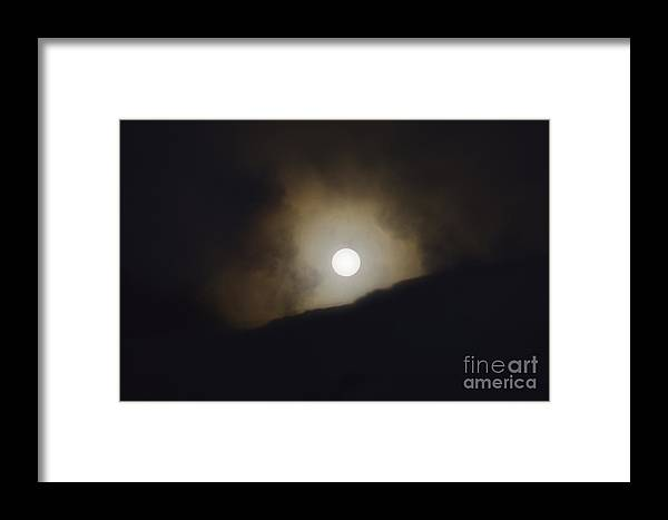 Moon Framed Print featuring the photograph Mammoth Moon Set by Wildlife Fine Art
