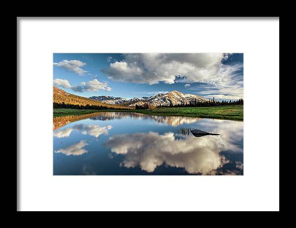 Scenics Framed Print featuring the photograph Mammoth Peak Reflection by Tom Grubbe