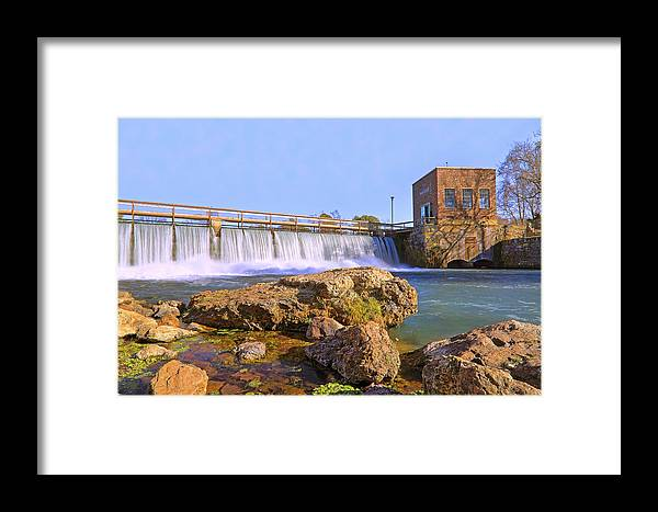 Mammoth Spring Framed Print featuring the photograph Mammoth Spring Dam And Hydroelectric Plant - Arkansas by Jason Politte