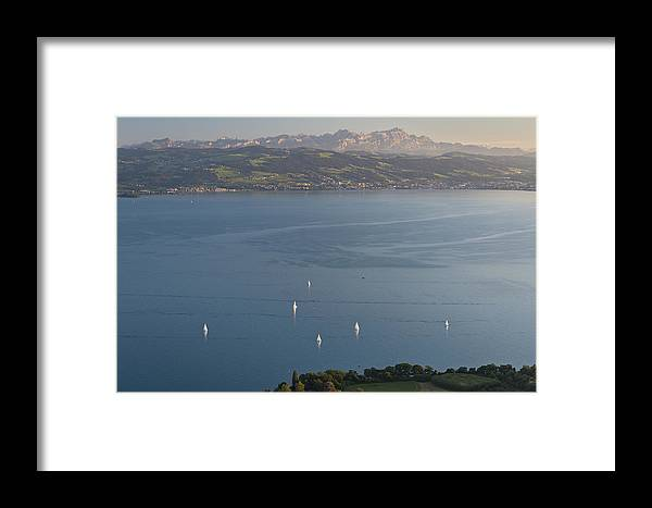 Langenargen Framed Print featuring the photograph Man And Nature # 1 by Holger Spiering