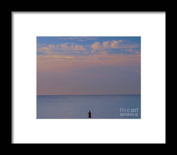 Beach Framed Print featuring the photograph Man And Nature by David Call