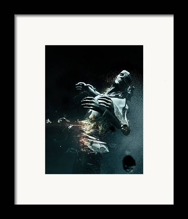 3d Framed Print featuring the digital art Man Apart by Philip Brunner