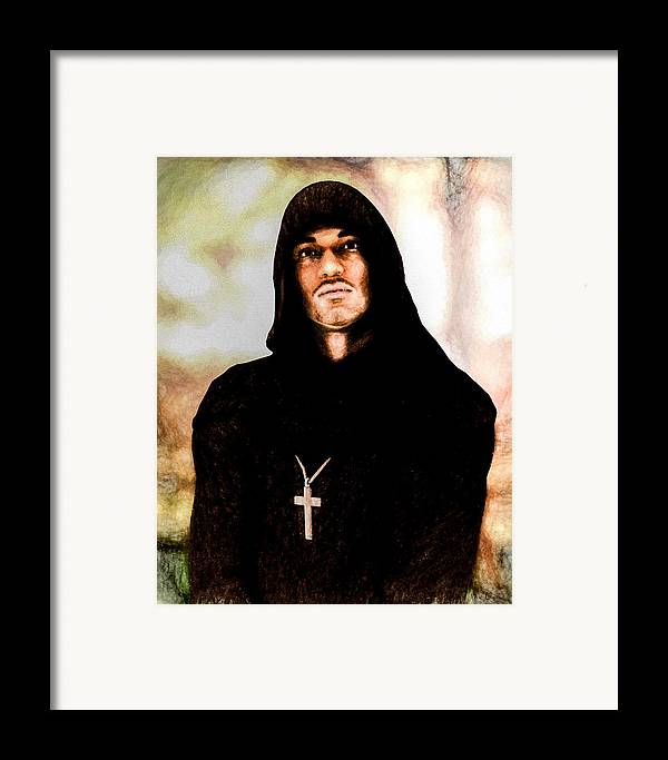 Priest Framed Print featuring the painting Man Of Peace by Bob Orsillo