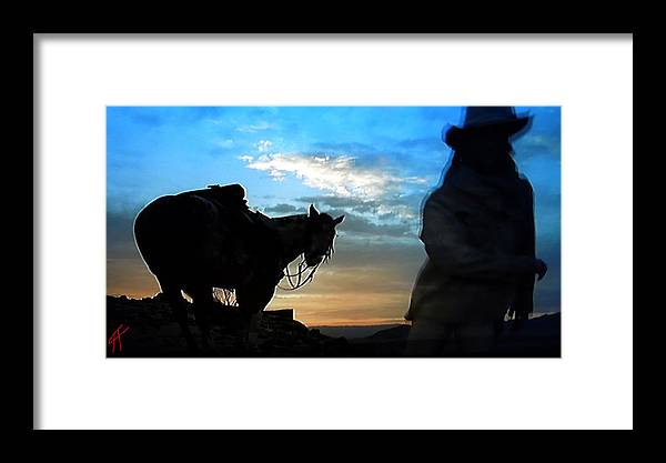 Colette Framed Print featuring the photograph Man With His Horse by Colette V Hera Guggenheim