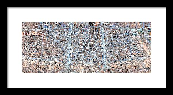 Abstract Framed Print featuring the digital art Mangled Wire by Ron Bissett