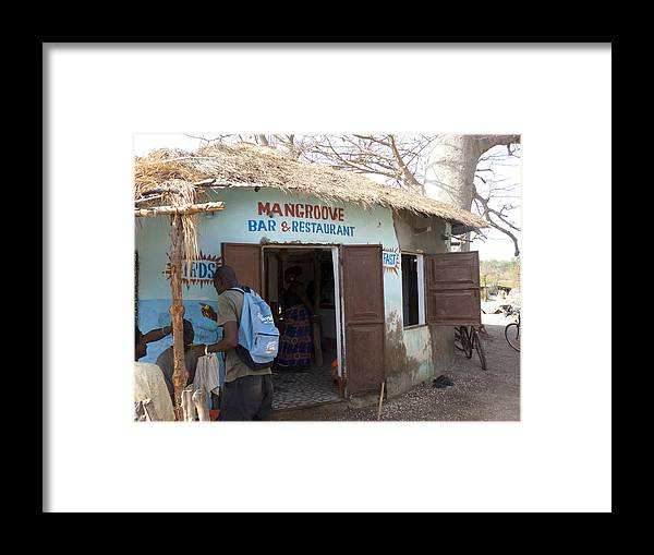The Gambia Framed Print featuring the photograph Mangrove Bar And Restaurant by Tony Murtagh