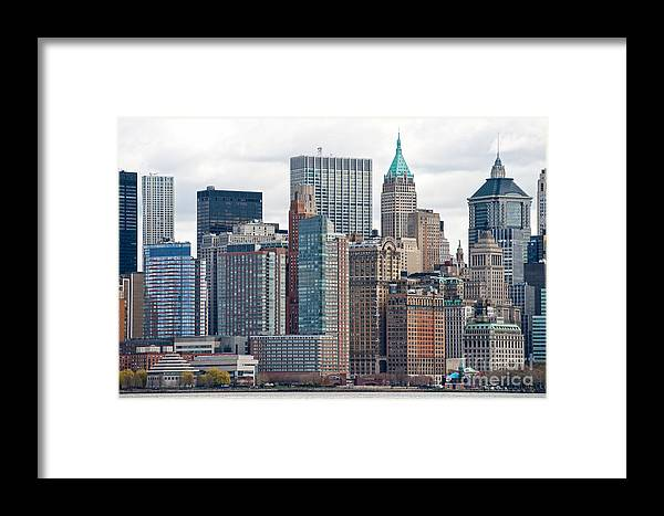 Usa Framed Print featuring the photograph Manhattan - New York City by Luciano Mortula