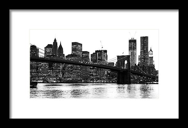 Usa Framed Print featuring the photograph Manhattan 1 by Luciano Mortula