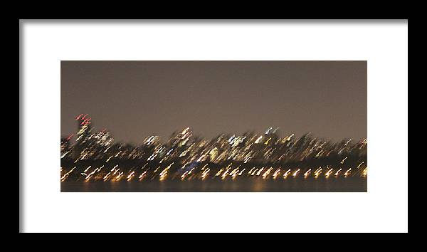 Night Life Framed Print featuring the photograph Manhattan by Magda Levin-Gutierrez