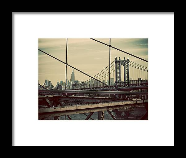 Manhattan Framed Print featuring the photograph Manhattan by Newyorkcitypics Bring your memories home