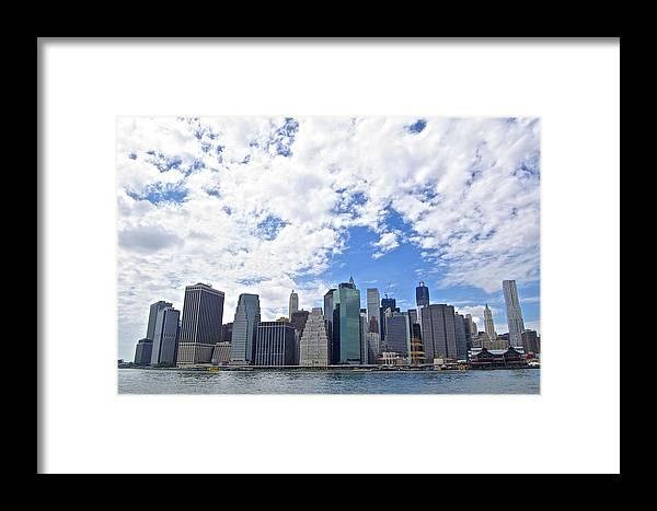 Empire Framed Print featuring the photograph Manhattan Skyline by Galexa Ch