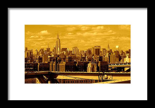 Manhattan Ny Prints Framed Print featuring the photograph Manhattan Skyline by Monique's Fine Art