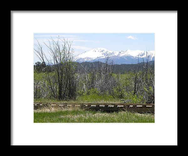 Berg Framed Print featuring the photograph Lake Manitou Sp Woodland Park Co by Margarethe Binkley