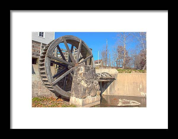 Mansfield Mill Photographs Framed Print featuring the photograph Mansfield Mill Water Wheel by Thomas Sellberg