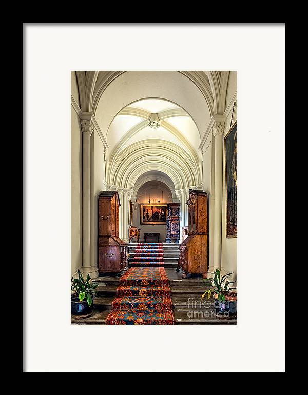 British Framed Print featuring the photograph Mansion Hallway IIi by Adrian Evans