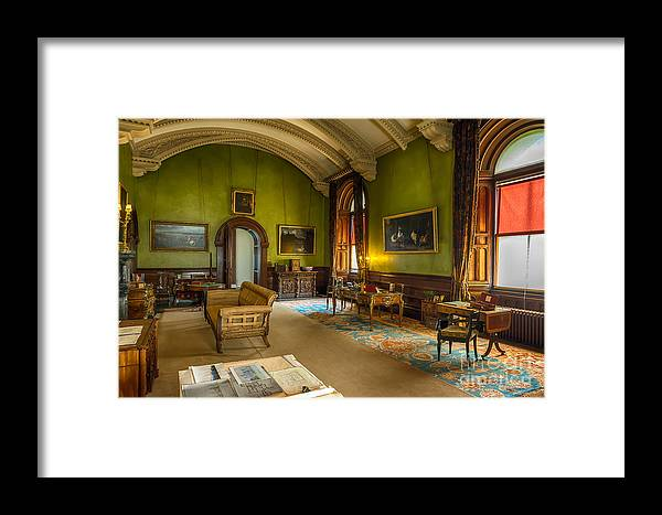 British Framed Print featuring the photograph Mansion Lounge by Adrian Evans