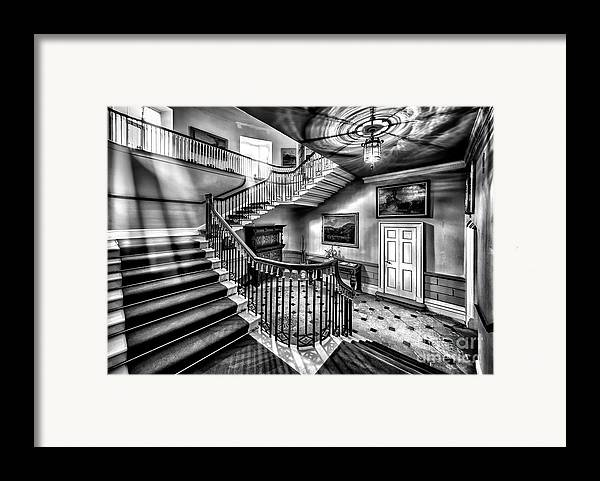 British Framed Print featuring the photograph Mansion Stairway V2 by Adrian Evans