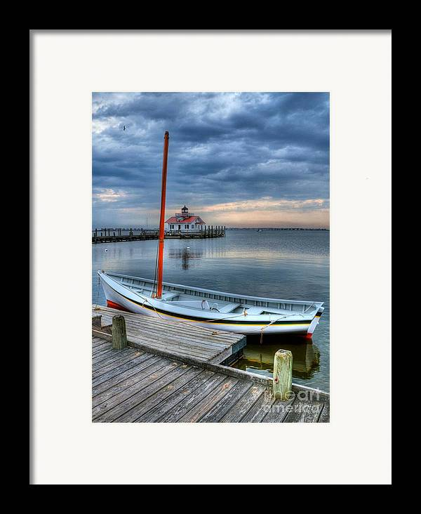 Boats Framed Print featuring the photograph Manteo Waterfront 2 by Mel Steinhauer