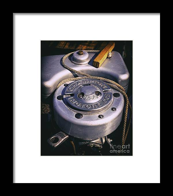 Engine Framed Print featuring the photograph Manual Start by Joe Geraci