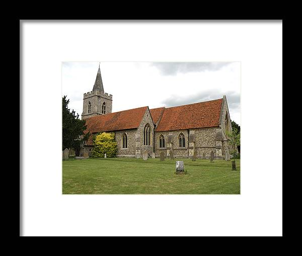 Church Framed Print featuring the photograph Manuden Church by Ted Denyer